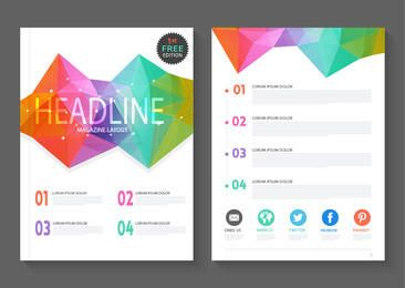 Abstract Colorful Polygonal Magazine Layout