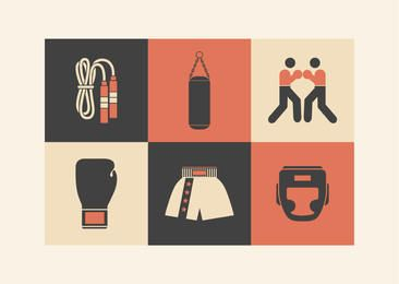 Minimal Retro Boxing Icon Pack