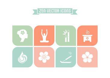 Conjunto de iconos planos Zen concepto