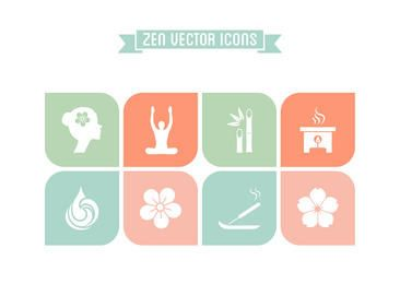 Zen Concept Flat Icon Set