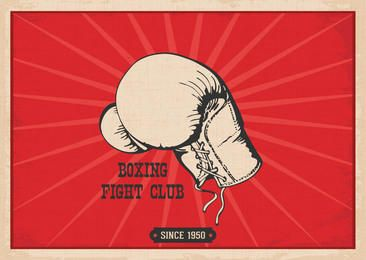 Hand Drawn Vintage Boxing Poster