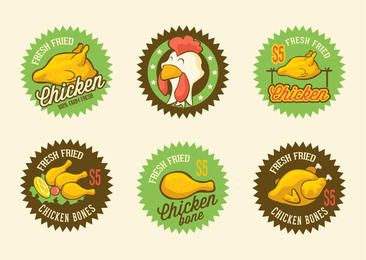 Retro Fried Chicken Label Pack