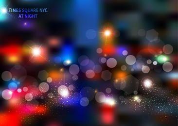 Colorful Times Square Bokeh Light