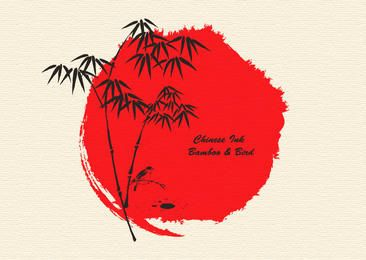 Japanese Tradition Sumi-e Art
