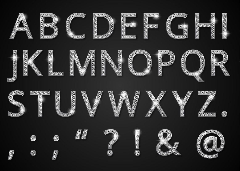 Diamante estilo alfab tica tipo de letra descargar vector for Estilos de letras