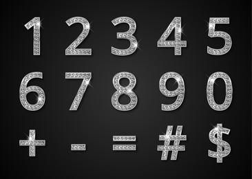 Glossy Diamond Numerical Typeface