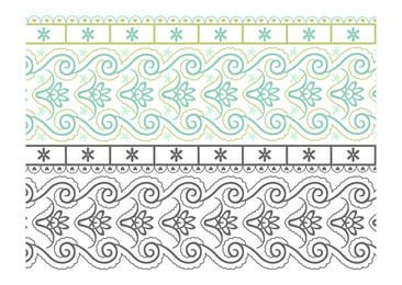 Seamless Paisley Doodle Border