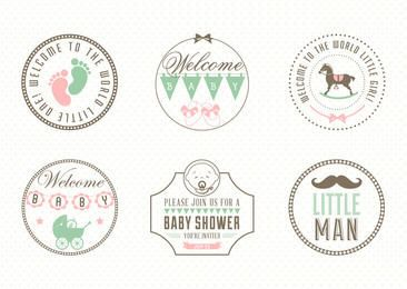 Vintage Baby Concept Labels Pack