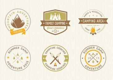 Camping Vintage Label Set