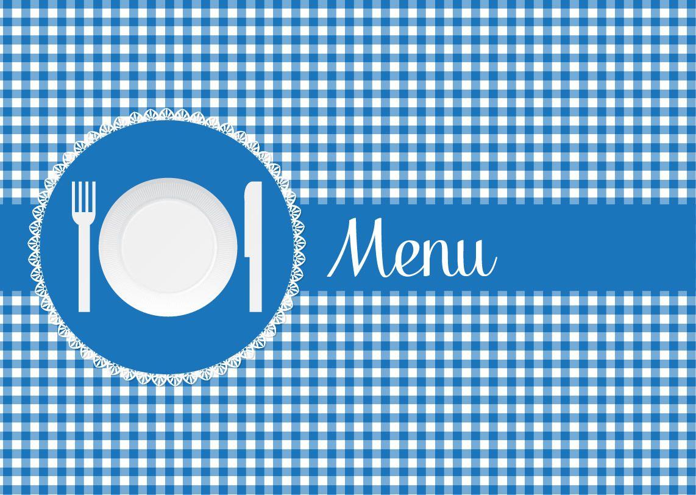 Blue Restaurant Chequeado Cubierta Menú - Descargar vector