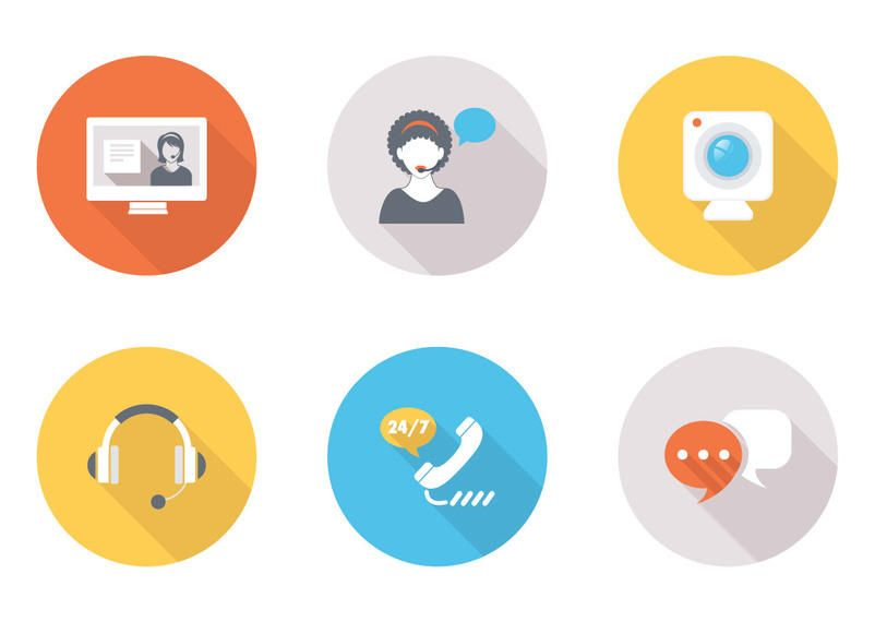 Chat CRM Contact Icon Pack - Vector download