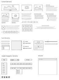 Elementos de maqueta de sitio web