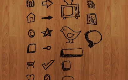 Dibujado a mano iconos vectoriales