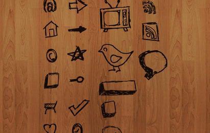 Mão desenhada vetor ícones