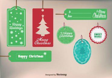 Conjunto Básico de Etiquetas de Natal