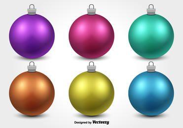 Glossy Christmas Ornament Set