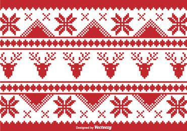 Pixilated Christmas Traditional Borders
