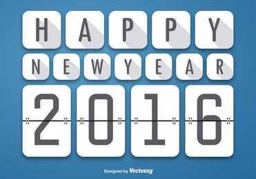 Happy 2016 Squares Background