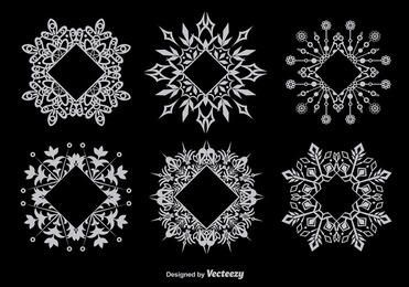 Snowflake Decorative Frame Set