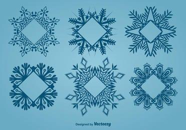 Decorative Frame Shaped Snowflake Set