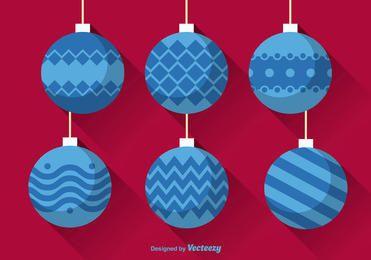 Decorative Flat Christmas Ball Pack