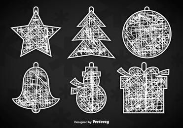 White Christmas Ornament Hangers