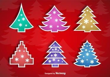 Colorful Christmas Tree Sticker Set