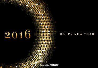 Fundo dourado brilhante de 2016