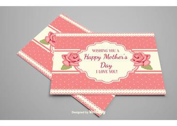 Decorative Mother's Day Floral Card