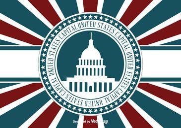 Concepto de capital de Estados Unidos