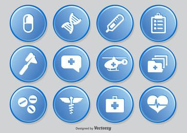 Pack de iconos de círculos médicos