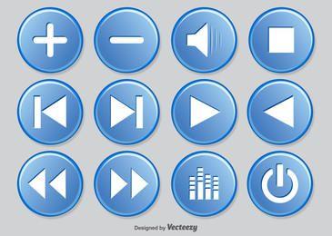 Pacote de Círculos de Botão do Media Player
