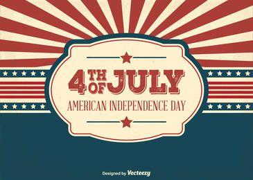 Cartão EUA Dia Independente Saudações