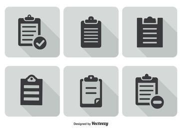 Minimal Clipboard Icon Set