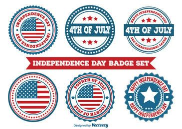 Independence Day Emblema redondo Set