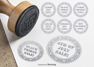 Promocional Venda selos Pacote