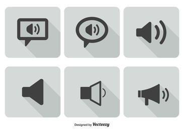 Flat Sound Volume Icon Set