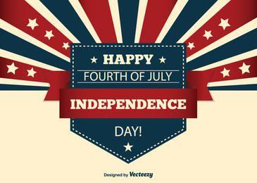 Cartão EUA Dia da Independência Criativa