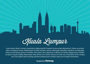 Kuala Lumpur Skyline Silhueta