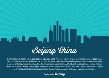 Beijing China Skyline Silhouette