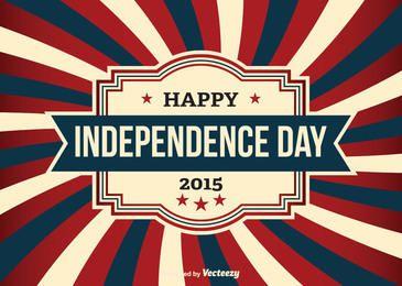 Cartão do vintage EUA do Dia da Independência