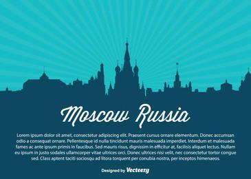Moscovo Rússia Skyline Silhueta
