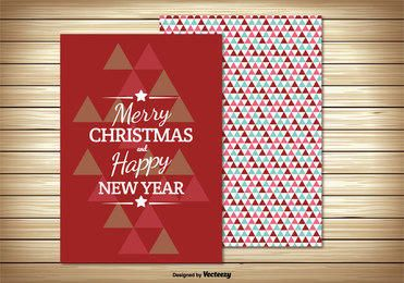 Two Parts Retro Christmas Card