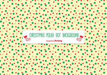 Polka Dots Texture Christmas Background