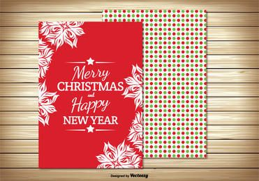 Two Parts Christmas Greeting Card