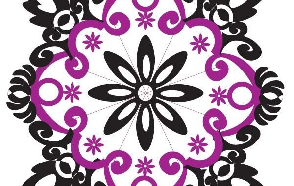 Tipo de flor forma de ornamento