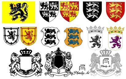 Heraldic Lion Vector Pack