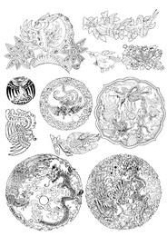 Dekorative Zierpackung aus Phoenix-Muster