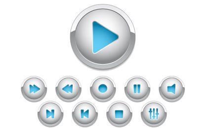 Botões de controle para web design