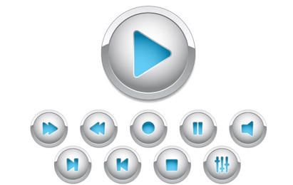 Botones de control para diseño web.